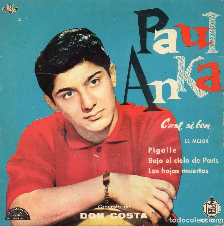 PAUL ANKA, EP, C´EST SI BON + 3, AÑO 1960 (Música - Discos de Vinilo - EPs - Pop - Rock Extranjero de los 50 y 60)