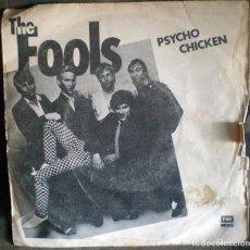 Discos de vinilo - The Fools – Psycho Chicken 1980 con David Byrne de Talking Heads - 106149143
