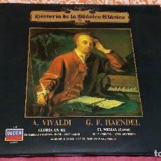 Discos de vinilo: L.P.: HISTORIA DE LA MÚSICA CLÁSICA Nº 92 - A. VIVALDI (GLORIA EN RE) / G. F. HAENDEL (EL MESÍAS). Lote 106215455