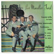 Discos de vinilo: LOS MARCELLOS FERIAL - CUANDO BRILLA LA LUNA +3 - DURIUM 1963. Lote 106261103