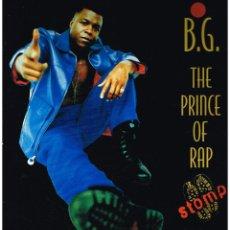 Discos de vinilo: B.G. THE PRINCE OF RAP - STOMP (2 VERSIONES) / CRAZY - MAXISINGLE 1996. Lote 106274959