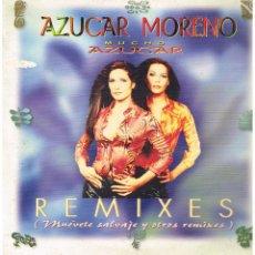Discos de vinilo: AZUCAR MORENO - MUCHO AZUCAR. REMIXES, MUEVETE SALVAJE Y OTROS REMIXES - MAXISINGLE 1997 - ED. HOLAN. Lote 106301415