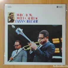 Discos de vinilo: DIZZY GILLESPIE - SWING LOW, SWEET CADILLAC - LP. Lote 106308198