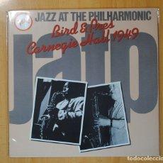 Discos de vinilo: BIRD & PRES - JAZZ AT THE PHILHARMONIC CARNEGIE HALL 1949 - LP. Lote 106336100