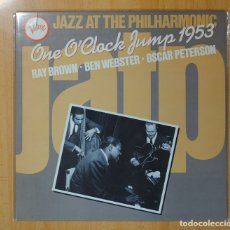 Discos de vinilo: RAY BROWN / BEN WEBSTER / OSCAR PETERSON - JAZZ AT THE PHILHARMONIC ONE O´CLOCK JUMP 1953 - LP. Lote 106337135