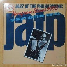 Discos de vinilo: FLIP PHILLIPS / LESTER YOUNG / BUDDY RICH - NORGRAN BLUES 1950 - LP. Lote 106338179