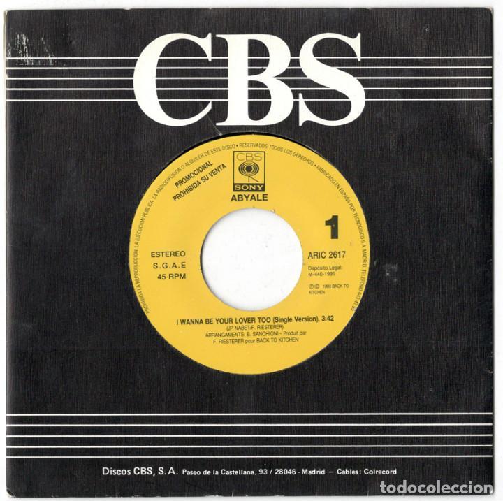 ABYALE - I WANNA BE YOUR LOVER TOO - CBS/SONY 1991 - PROMO (Música - Discos - Singles Vinilo - Techno, Trance y House)