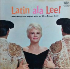 Discos de vinilo: PEGGY LEE.LATIN ALA LEE !. LP ORIGINAL USA. Lote 106388891