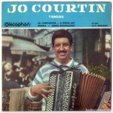 Discos de vinilo: JO COURTIN - TANGOS - DISCOPHON 1961. Lote 106395103