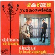 Discos de vinilo: JAIME Y SU ACORDEON - VALSES - ZAFIRO 1963. Lote 106434179