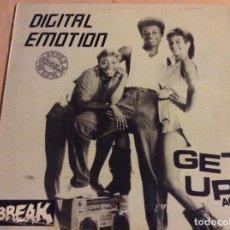 Discos de vinilo: DIGITAL EMOTION - GET UP ACTION.1984 BREAK RECORDS. FONOMUSIC . Lote 106539023