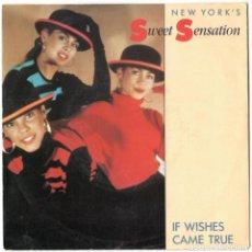 Discos de vinilo: NEW YORK SWEET SENSATION - IF WISHES CAME TRUE / LOVE CHILD - ATCO - EUROPA 1990. Lote 106540511