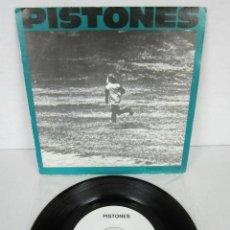 Discos de vinilo: PISTONES - PERSECUCION + GALAXIA - SINGLE - ARIOLA 1984 SPAIN - PROMO. Lote 106546863