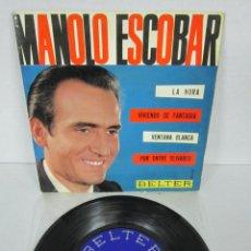 Discos de vinil: MANOLO ESCOBAR - LA HORA / VENTANA BLANCA + 2 - EP - BELTER 1963 50.721. Lote 106547971
