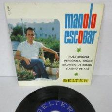Discos de vinil: MANOLO ESCOBAR - ROSA MALENA + 3 - EP - BELTER 1966 51.260. Lote 106548119
