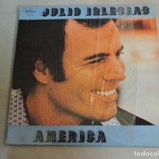 Discos de vinilo: JULIO IGLESIAS - AMERICA LP VENEZUELA GATEFOLD. Lote 106549059