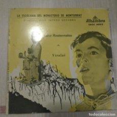 Discos de vinilo: ESCOLANÍA DE MONTSERRAT – SALVE MONTSERRATINA / VIROLAI. Lote 106555199