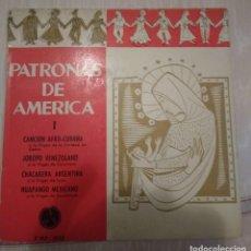Discos de vinilo: PATRONAS DE AMERICA. LUISA DE CÓRDOBA, JAIME SANTOS, JORGE CARDOSO. IRMA VILA. Lote 106557379