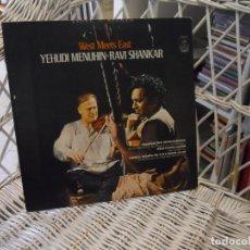 Discos de vinilo: YEHUDI MENUHIN & RAVI SHANKAR– WEST MEETS EAST.LP ORIGINAL USA 1967.SELLO ANGEL RECORDS. Lote 106558827