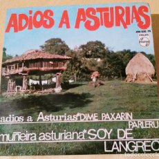 Discos de vinilo: ADIOS A ASTURIAS, ROBERTO MORADO, POLIFÓNICA GIJONESA, JOSÉ BLANCO, CELESTINO RUBIERA .RADIO -NORTE. Lote 106567831