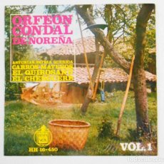 Discos de vinilo: ORFEON CONDAL DE NOREÑA. ASTURIAS PATRIA QUERIDA. CARLOS MATEROS. EL QUIROSANU. EL CHENGUERE. . Lote 106569679
