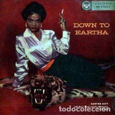 Discos de vinilo: EARTHA KITT LP - DOWN TO EARTHA 1955, RARA EDIC ORG UK, TODO EXC. Lote 106572411