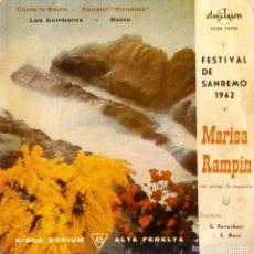 Discos de vinilo: MARISA RAMPIN - FESTIVAL DE SAN REMO 1962 - CONTA LE STELLE + 3 DURIUM ECGE 75193. Lote 106576543