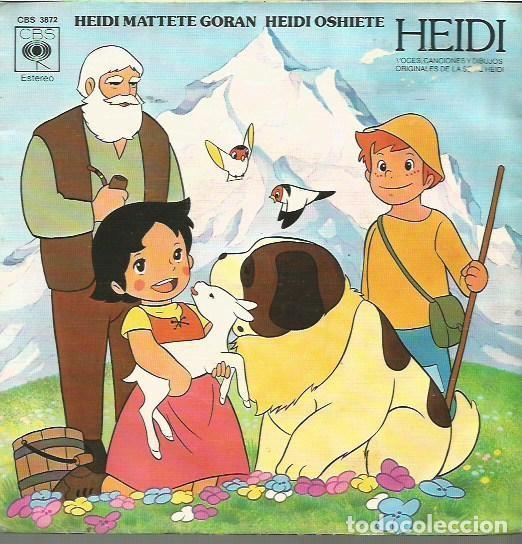 HEIDI SINGLE PORTADA DOBLE SELLO CBS AÑO 1975 EDITADO EN ESPAÑA (Música - Discos - Singles Vinilo - Música Infantil)