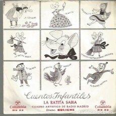 Discos de vinilo: LA RATITA SABIA (CUENTO) SINGLE SELLO COLUMBIA AÑO 1964 EDITADO EN ESPAÑA . Lote 106588439