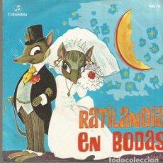 Discos de vinilo: RATILANDIA EN BODAS (CUENTO) SINGLE SELLO COLUMBIA AÑO 1969 EDITADO EN ESPAÑA . Lote 106588571