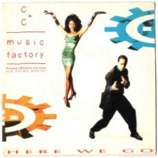 Discos de vinilo: C + C MUSIC FACTORY - HERE WE GO (THE ROCK & ROLL RADIO MIX) - CBS/SONY 1991 - PROMO. Lote 106590567