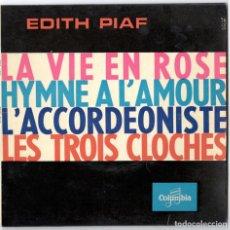Discos de vinilo: EDITH PIAF - LA VIE EN ROSE +3 - COLUMBIA - FRANCIA 1967. Lote 106593927