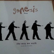 Discos de vinilo: GENESIS LIVE / THE WAY WE WALK (VOLUME ONE THE SHORTS) LP SPAIN CON INSERTO. Lote 106597411