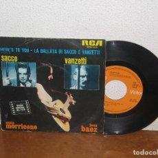 Discos de vinilo: JOAN BAEZ 7´´ MEGA RARE VINTAGE SPAIN 1975. Lote 106599143