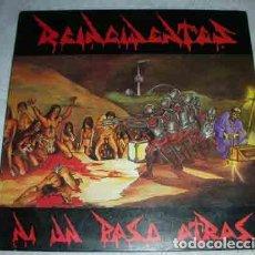 Discos de vinilo: REINCIDENTES – NI UN PASO ATRÁS - LP DISCOS SUICIDAS 1991. Lote 106611855
