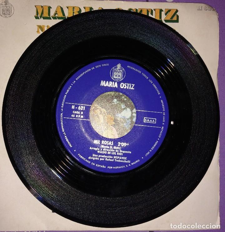 Discos de vinilo: MARIA OSTIZ - NA VEIRIÑA DO MAR / MIL ROSAS - Foto 2 - 202481927