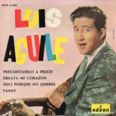 Discos de vinilo: LUIS AGUILÉ, EP, PREGUNTASELO A FRIZZI + 3, AÑO 1964. Lote 106616003