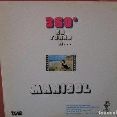 Discos de vinilo: 360º GRADOS EN TORNO A MARISOL ( VER FOTOS ) CANTA MIDNIGHT COWOY - SENTADA A LA VERA DEL CAMINO. Lote 106617439