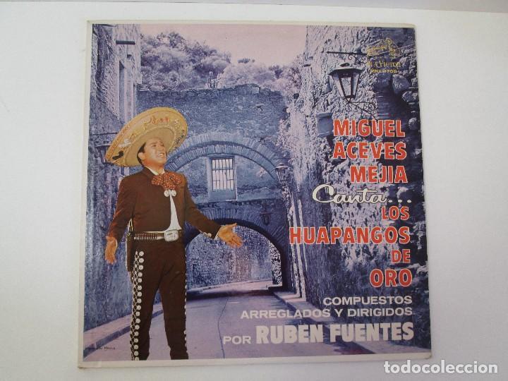 Discos de vinilo: MIGUEL ACEVES MEJIA. CANTA...LOS HUAPANGOS DE ORO. COMPUESTOS RUBEN FUENTES. LP VINILO 1966 - Foto 2 - 106644667
