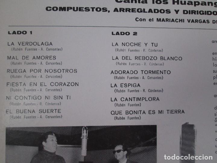 Discos de vinilo: MIGUEL ACEVES MEJIA. CANTA...LOS HUAPANGOS DE ORO. COMPUESTOS RUBEN FUENTES. LP VINILO 1966 - Foto 7 - 106644667