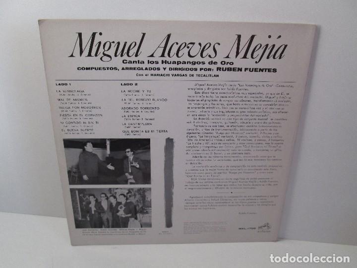 Discos de vinilo: MIGUEL ACEVES MEJIA. CANTA...LOS HUAPANGOS DE ORO. COMPUESTOS RUBEN FUENTES. LP VINILO 1966 - Foto 9 - 106644667