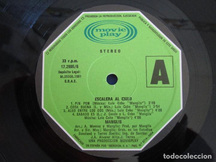 Discos de vinilo: MANGLIS. ESCALERA AL CIELO. LP VINILO. MOVIE PLAY. 1981. VER FOTOGRAFIAS ADJUNTAS - Foto 4 - 106645067