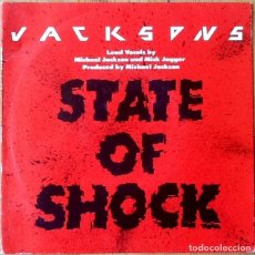 Discos de vinilo: THE JACKSONS : STATE OF SHOCK [ESP 1984] 7'. Lote 106645615