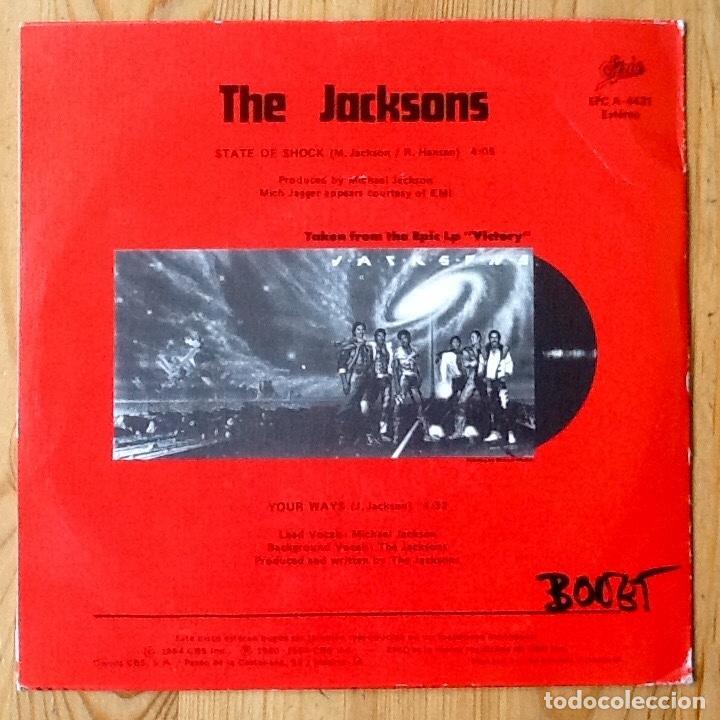 Discos de vinilo: THE JACKSONS : STATE OF SHOCK [ESP 1984] 7 - Foto 2 - 106645615