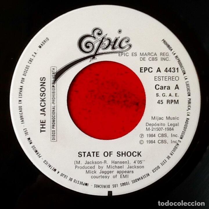 Discos de vinilo: THE JACKSONS : STATE OF SHOCK [ESP 1984] 7 - Foto 3 - 106645615