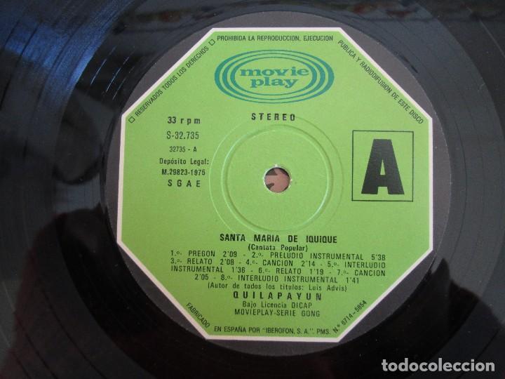 Discos de vinilo: SANTA MARIA DE IQUIQUE. CANTATA POPULAR. LP VINILO MOVIE PLAY 1975. VER FOTOGRAFIAS ADJUNTAS - Foto 7 - 106647319
