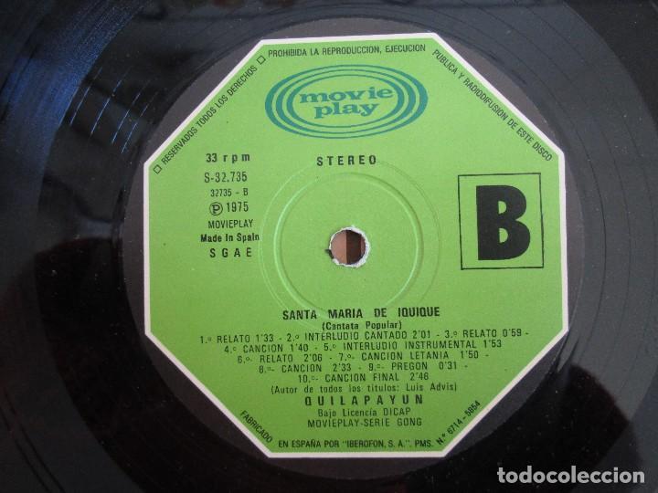 Discos de vinilo: SANTA MARIA DE IQUIQUE. CANTATA POPULAR. LP VINILO MOVIE PLAY 1975. VER FOTOGRAFIAS ADJUNTAS - Foto 9 - 106647319