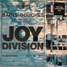 Discos de vinilo: JOY DIVISION * LP 180G * LIVE AT LES BAINS DOUCHES, PARIS 18 DECEMBER 1979 * PRECINTADO. Lote 134773047