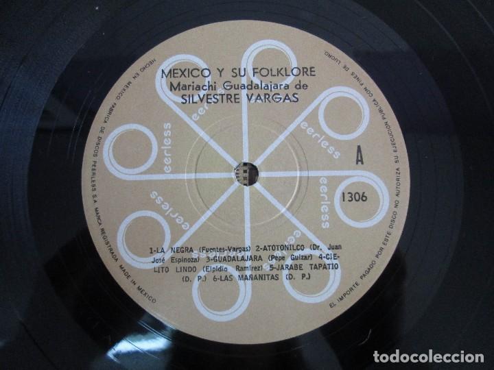 Discos de vinilo: MEXICO Y SU FOLKLORE. MARIACHI GUADALAJARA DE SILVESTRE VARGAS. LP VINILO. VER FOTOGRAFIAS - Foto 4 - 106649123