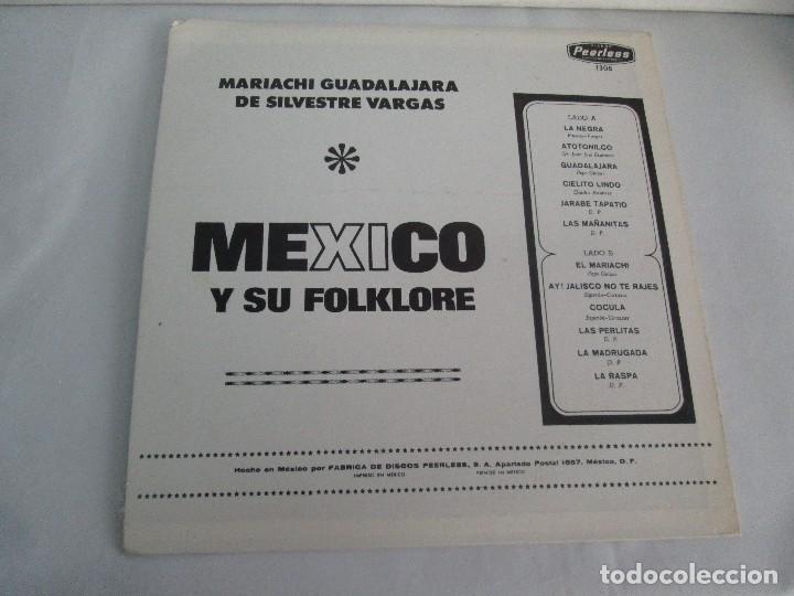 Discos de vinilo: MEXICO Y SU FOLKLORE. MARIACHI GUADALAJARA DE SILVESTRE VARGAS. LP VINILO. VER FOTOGRAFIAS - Foto 8 - 106649123